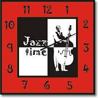 """Часы настенные """"Время джаза"""" (300мм) [Стекло, Открытые]"""