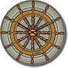 """Часы настенные детские """"Морской штурвал"""" (300мм) [Стекло, Открытые]"""