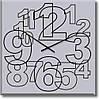 """Часы настенные """"Большие арабские цифры"""" (300мм) [Стекло, Открытые]"""