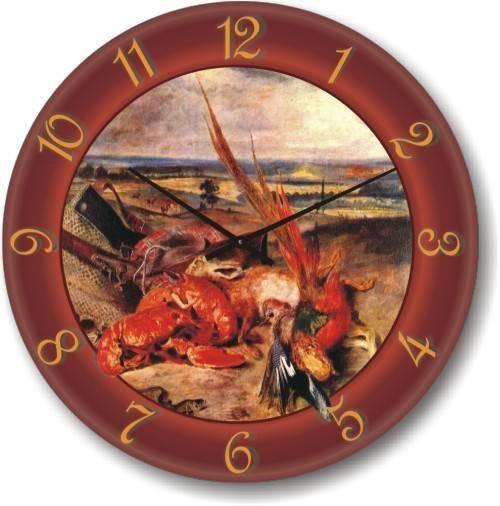 "Кухонные настенные часы ""Натюрморт"" (300мм) [Стекло, Открытые]"