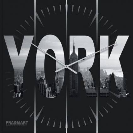 """Часы настенные большие """"YORK"""" (450мм) [Стекло, Открытые]"""