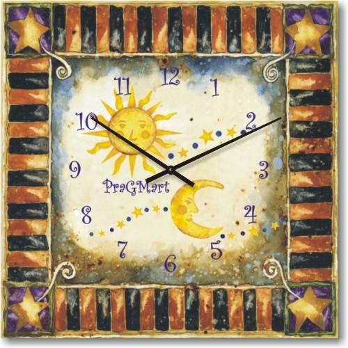"""Часы настенные детские """"День и ночь"""" (300мм) [Стекло, Открытые]"""