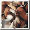 """Кухонные настенные часы """"Абстракция"""" (350мм) [Стекло, Открытые]"""