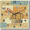 """Часы настенные детские """"Слоненок"""" (350мм) [Стекло, Открытые]"""