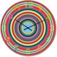 """Большие настенные часы """"Разноцветные круги"""" (450мм) [Стекло, Открытые]"""