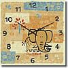 """Часы настенные детские """"Слоненок"""" (300мм) [Стекло, Открытые]"""