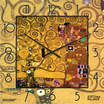 """Часы настенные """"Древо жизни-Свершение - Густав Климт"""" (300мм) [Стекло, Открытые]"""