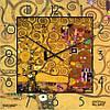 """Часы настенные большого размера """"Древо жизни-Свершение - Густав Климт"""" (450мм) [Стекло, Открытые]"""