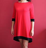 Женское красное платье с бабочкой
