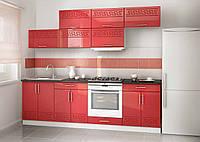 Кухня на заказ красный глянец модерн, изготовление вариант-024, фото 1