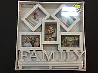 """Фоторамка на 5 фото """"Family"""" 27*27см"""