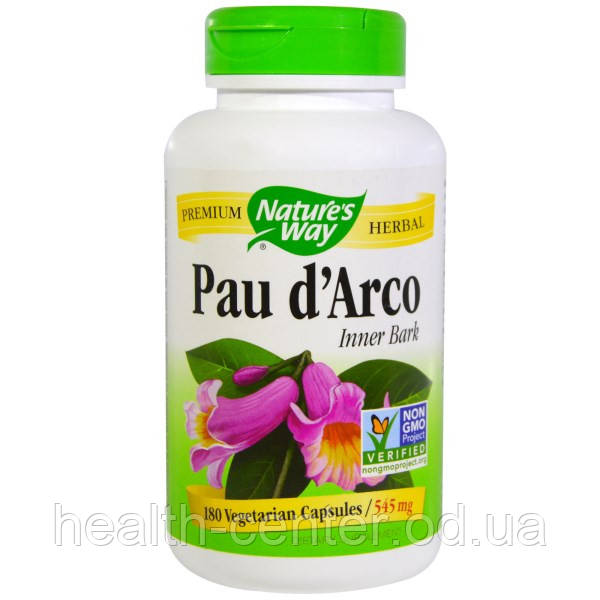 Кора муравьиного дерева (Пау Дарко) 180 капс 545 мг для иммунитета противовирусное Nature's Way USA