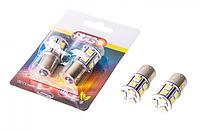 Лампа автомобильная  PULSO/габаритная/LED S25/BAU15s/13 SMD-5050/12v/Yellow/поворот.
