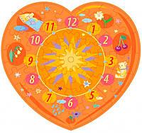Пазл-часы Оранжевое сердце, 61 эл., Умная бумага