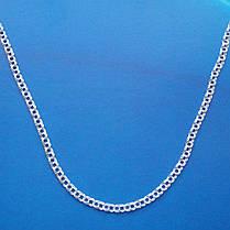 Серебряная цепочка, 550мм, 10,8 грамма, плетение Бисмарк, светлое серебро, фото 2