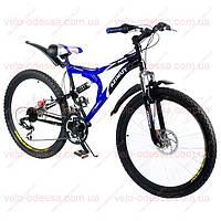 Горный двухподвесный велосипед AZIMUT Blaster 26 дюймов 18 рама