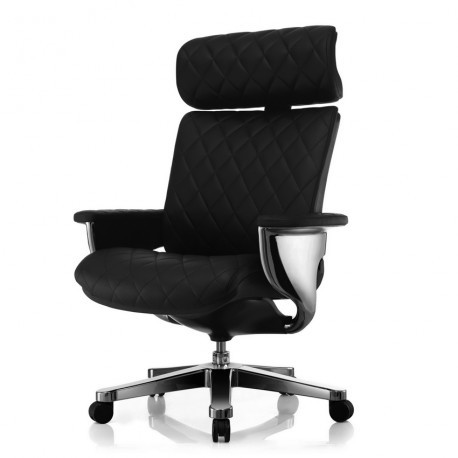 Кресло-реклайнер кожаное NUVEM для руководителя
