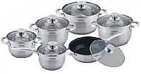 Набор индукционной посуды 12 пр.  MAXMARK MK-3512А