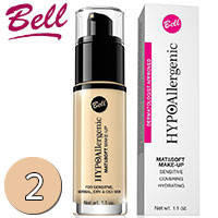 Bell HypoAllergenic - Mat & Soft Make-up Флюид матирующий тональный 30ml Тон 02 natural