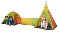 Детские игровые палатки, домик 3 in 1 с тоннелем