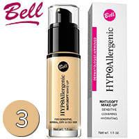 Bell HypoAllergenic - Mat & Soft Make-up Флюид матирующий тональный 30ml Тон 03 sunny beige