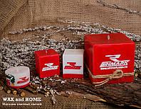 """Свеча ароматизированная ручной работы с логотипом """"Винмарк"""""""