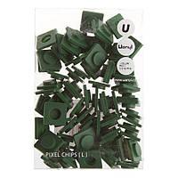 Пиксели Big темно-зеленые, 80 шт., Upixel