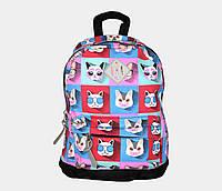 Рюкзак маленький принтований коти 3