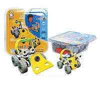 Пластиковый конструктор (2 машины) в PVC упаковке (желтый), Flexible Build&Play