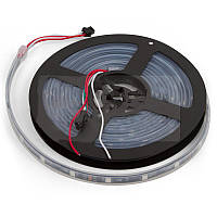 Светодиодная лента RGB SMD5050/WS2811 30 светодиодов, 12 В DC,1 м, IP67 (черная)