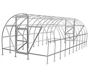 Теплица Оскар Дачница Стронг 8м² (200х400х200см) Каркас Под Пленку