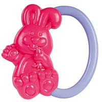 Погремушка Зайчик (красный с фиолетовой ручкой), Canpol babies