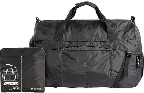 Практичная дорожная раскладная сумка на 50 л. Tucano COMPATTO XL WEEKENDER BLACK (BPCOWE) черный