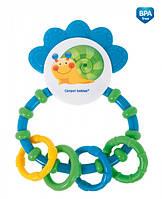 Погремушка-зубогрызка Веселый сад Зеленая улитка, Canpol babies