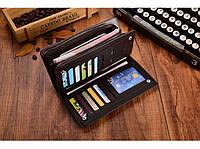 Кожаный кошелек (портмане) Baellerry Italia Баелери Италия, черный
