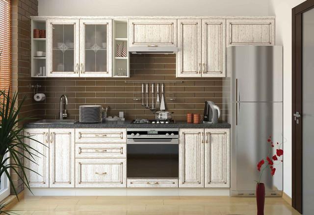 Кухня Классик Шпон, цвет патина слоновая кость (фото 2)