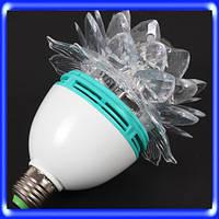 Светодиодная Дисколампа LED вращающаяся+переходник Розочка