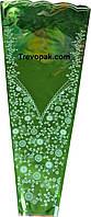 """Пакеты для цветов """"Колесо фортуны цветн/метал(зеленый)+рис"""" (уп.100шт)6*29*60"""