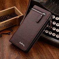Клатч Baellerry Italia (кошелек, портмоне кожаный) Баелери Италия, коричневый