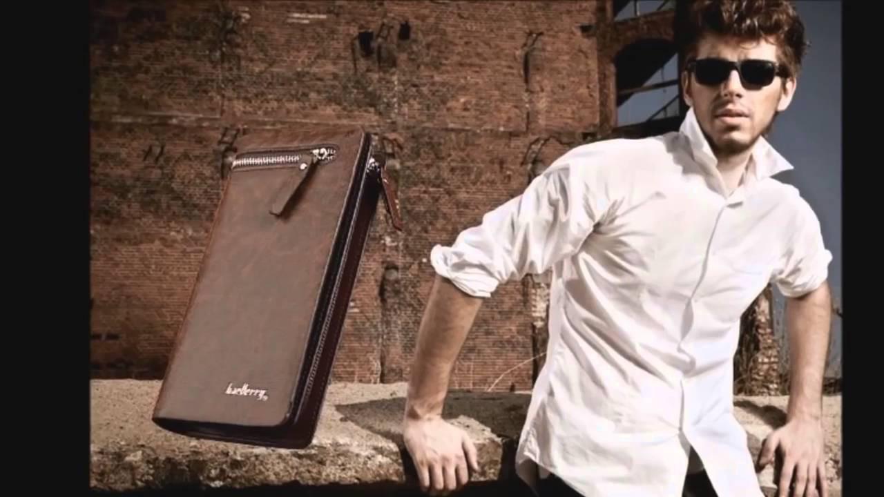 Мужской Клатч Baellerry Italia (кошелек, портмоне кожаный) Баелери Италия, коричневый