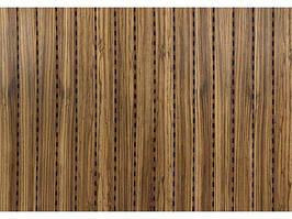 Decor Acoustic Зебрано Натуральный шпон зебрано Акустическая перфорированная панель на основе MDF