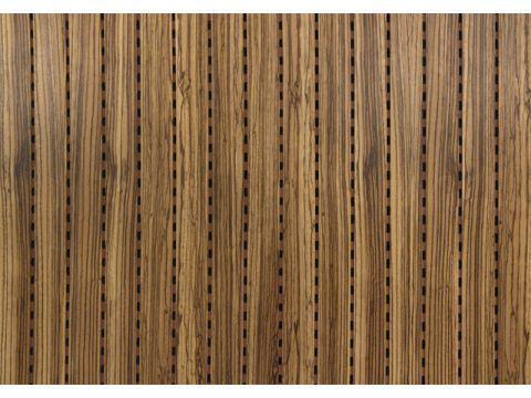"""Decor Acoustic Зебрано Натуральный шпон зебрано Акустическая перфорированная панель на основе MDF -  """"Кубометр"""" интернет-магазин звукоизоляционных и строительных материалов в Днепре"""