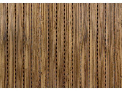 Decor Acoustic Зебрано Натуральный шпон зебрано Акустическая перфорированная панель на основе MDF, фото 2