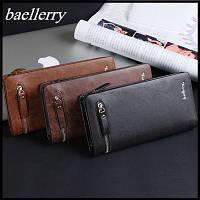 Мужской кошелек (клатч, портмоне) Baellerry Italia Баелери Италия, коричневый