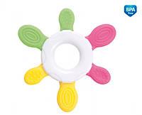 Прорезыватель для зубов эластичный Солнышко, с розовыми лучами, Canpol babies