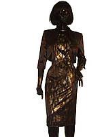 Костюм чёрно-золотой с болеро Арт.927а р.38,40,42,44,46,48, фото 1