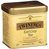 Чай черный заварной Twinings Earl Grey Tea 100г