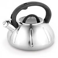 Чайник 3 л из нержавеющей стали со свистком Kamille 0671A
