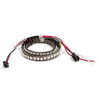 Светодиодная лента RGB SMD5050/WS2812B 144 светодиодов, 5 В DC,1 м, IP20 (черная)