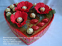 """Конфетное сердце-торт """" для романтиков"""""""